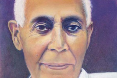 portrait painting of Swami Lakshmanjoo